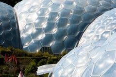 Vijf Eden Project Biomes Close OMHOOG stock foto's
