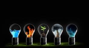 Vijf elementen van van de het waterbrand van de aardlucht de aarderuimte stock afbeeldingen