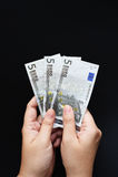 Vijf Euro Stock Foto