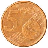 Vijf eurocentenmuntstuk Royalty-vrije Stock Afbeeldingen