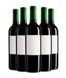 Vijf flessen Royalty-vrije Stock Fotografie