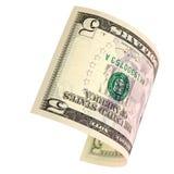 Vijf geïsoleerde dollars Stock Afbeeldingen
