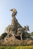 Vijf Geitenstandbeeld, een symbool van Guangzhou, China Stock Afbeelding