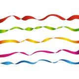 Vijf gekleurde banden Stock Foto