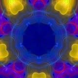 Vijf gele harten royalty-vrije illustratie