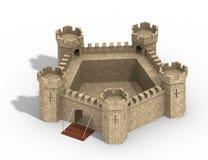 Vijf-gericht kasteel Royalty-vrije Stock Afbeelding