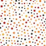 Vijf-gericht ster chaotisch patroon Naadloze vectorachtergrond royalty-vrije illustratie