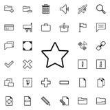 Vijf-gericht sterpictogram Gedetailleerde reeks minimalistic pictogrammen Premie grafisch ontwerp Één van de inzamelingspictogram vector illustratie