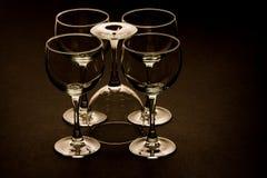 Vijf Glazen Stock Afbeeldingen