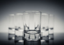 Vijf glazen Stock Foto