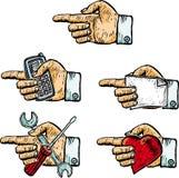 Vijf handen Stock Foto