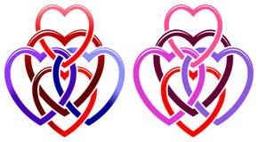 Vijf harten royalty-vrije illustratie