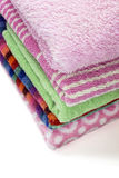 Gevouwen handdoeken Stock Foto's