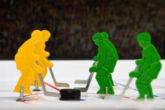 Vijf hockeyspelers Stock Foto's
