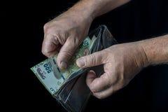 Vijf honderd Argentijnse pesorekening Stock Foto's