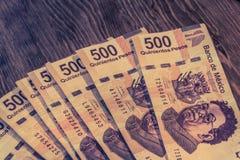 Vijf honderd de Mexicaanse foto van peso'srekeningen Stock Afbeelding