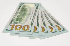 Vijf honderd dollars van de V.S. Stock Foto's