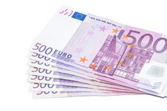 Vijf honderd euro bankbiljetten Royalty-vrije Stock Fotografie