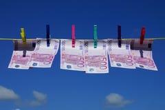 Vijf honderd euro bankbiljetten Royalty-vrije Stock Foto