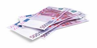 Vijf honderd euro bankbiljetten vector illustratie