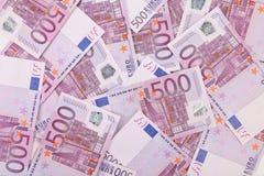 Vijf honderd euro nota's Royalty-vrije Stock Afbeelding