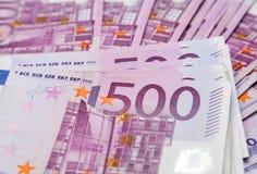 Vijf honderd euro nota's Royalty-vrije Stock Foto
