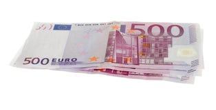 Vijf honderd euro rekeningen Stock Fotografie