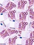 Vijf honderd euro verticaal als achtergrond Stock Foto's