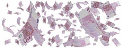 Vijf honderd Europese euroregen stock illustratie