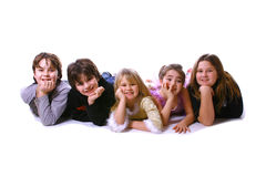 Vijf jonge geitjes Royalty-vrije Stock Foto