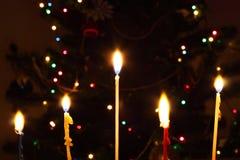 Vijf kaarsen Royalty-vrije Stock Foto's