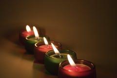 Vijf kaarsen Royalty-vrije Stock Foto