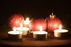 Vijf kaarsen Royalty-vrije Stock Afbeeldingen