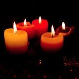 Vijf kaarsen Royalty-vrije Stock Afbeelding