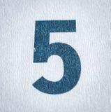 Vijf kalenderdatum stock afbeelding