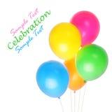 Vijf kleurrijke baloons royalty-vrije stock foto's