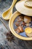 Vijf Kruidhutspot met hard-Gekookt Eieren en Varkensvlees (Kai Pa-Lo) Royalty-vrije Stock Fotografie