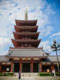 Vijf lagen pagode in Tokyo Stock Foto's