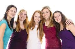 Vijf Leuke Meisjes Royalty-vrije Stock Afbeeldingen
