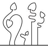 Vijf liefdebloem stock illustratie