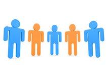 Vijf mensen   Stock Illustratie