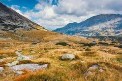 Vijf merenvallei in Hoge Tatras Stock Afbeelding