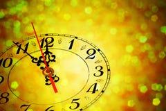 Vijf minuten aan Nieuwjaar Royalty-vrije Stock Foto