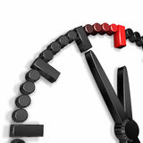 Vijf minuten aan twaalf (Horloge uit!) Stock Afbeeldingen