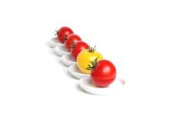 Vijf organische druiventomaat Stock Afbeeldingen