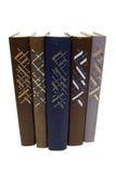 Vijf oude boeken Royalty-vrije Stock Afbeelding