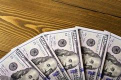 Vijf rekeningennominale waarde van $-100 Royalty-vrije Stock Foto's