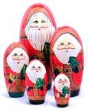 Vijf Santas royalty-vrije stock fotografie