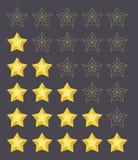 Vijf sterren het schatten Royalty-vrije Stock Afbeelding