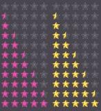 Vijf sterren het schatten Stock Foto